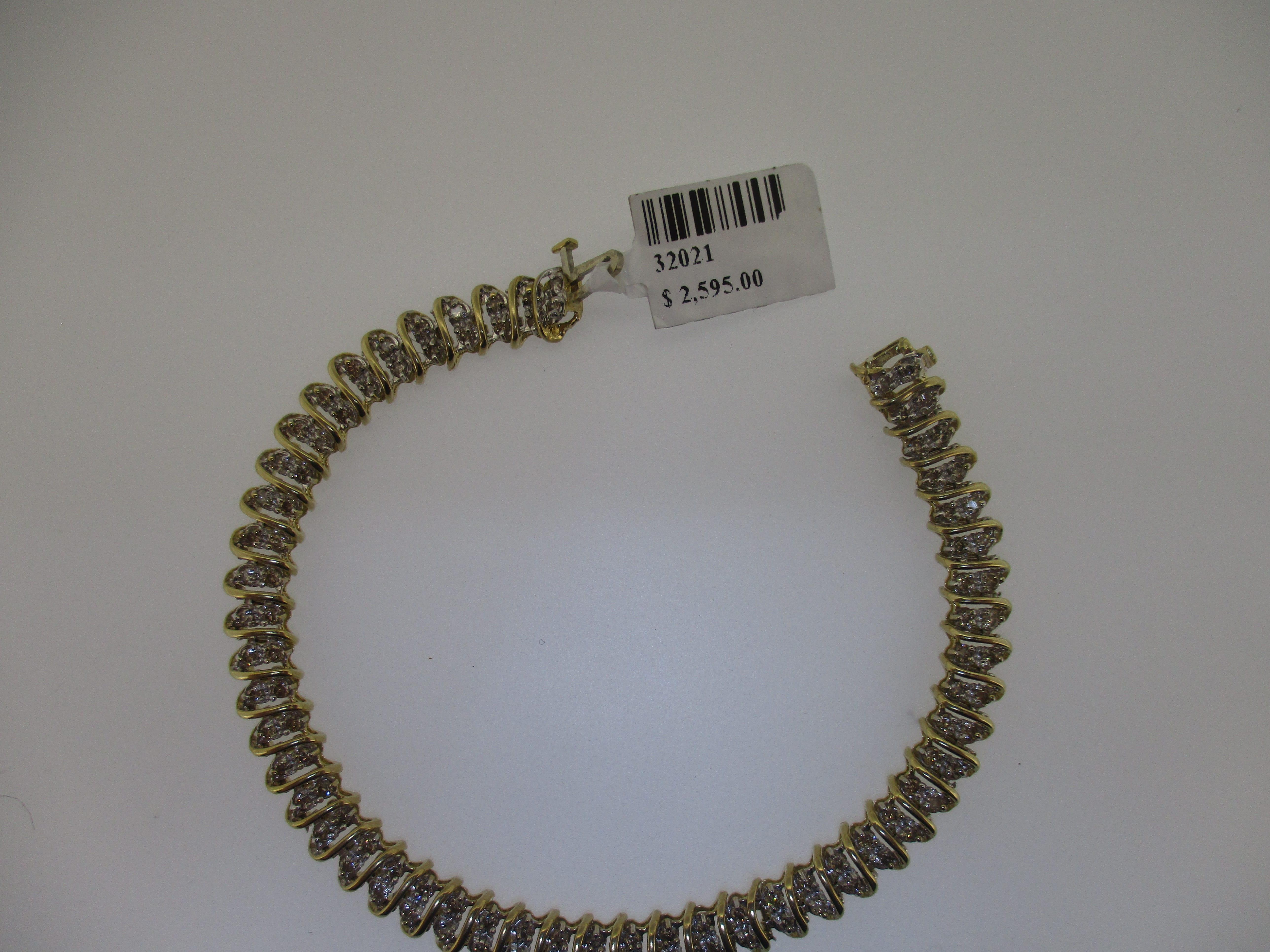 10k y gold 2.00ctw diamond bracelet