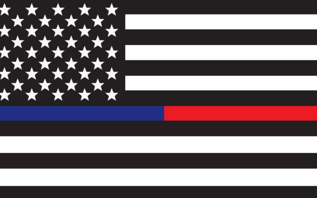 THIN RED BLUE LINE DECAL